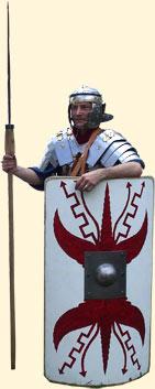 Schildbemalung der Legio I Flavia Minervia Pia Fidelis