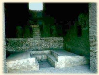 Triclinium aus Pompeji