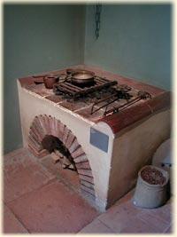 Rekonstruktion einer römischen Küche aus Augusta Raurica