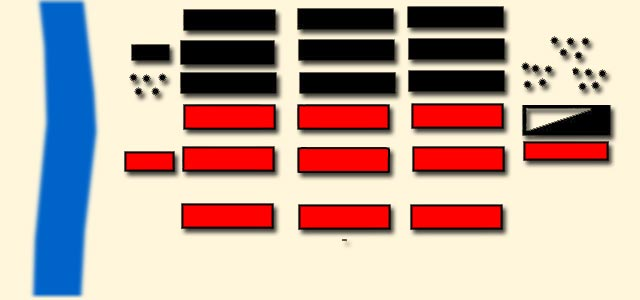 Schema für den Verlauf der Schlacht von Phasalus